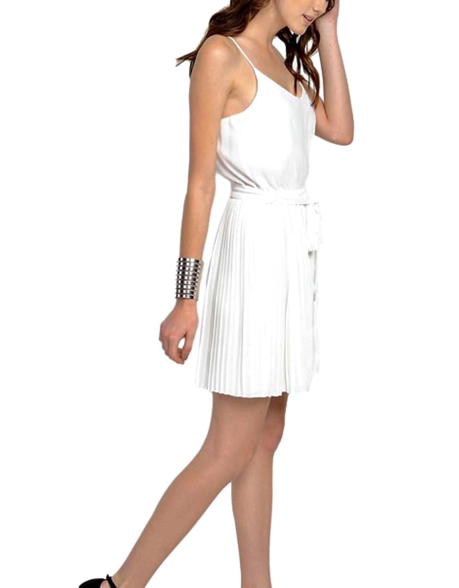 HUSH Tank mini dress w/ pleated skirt