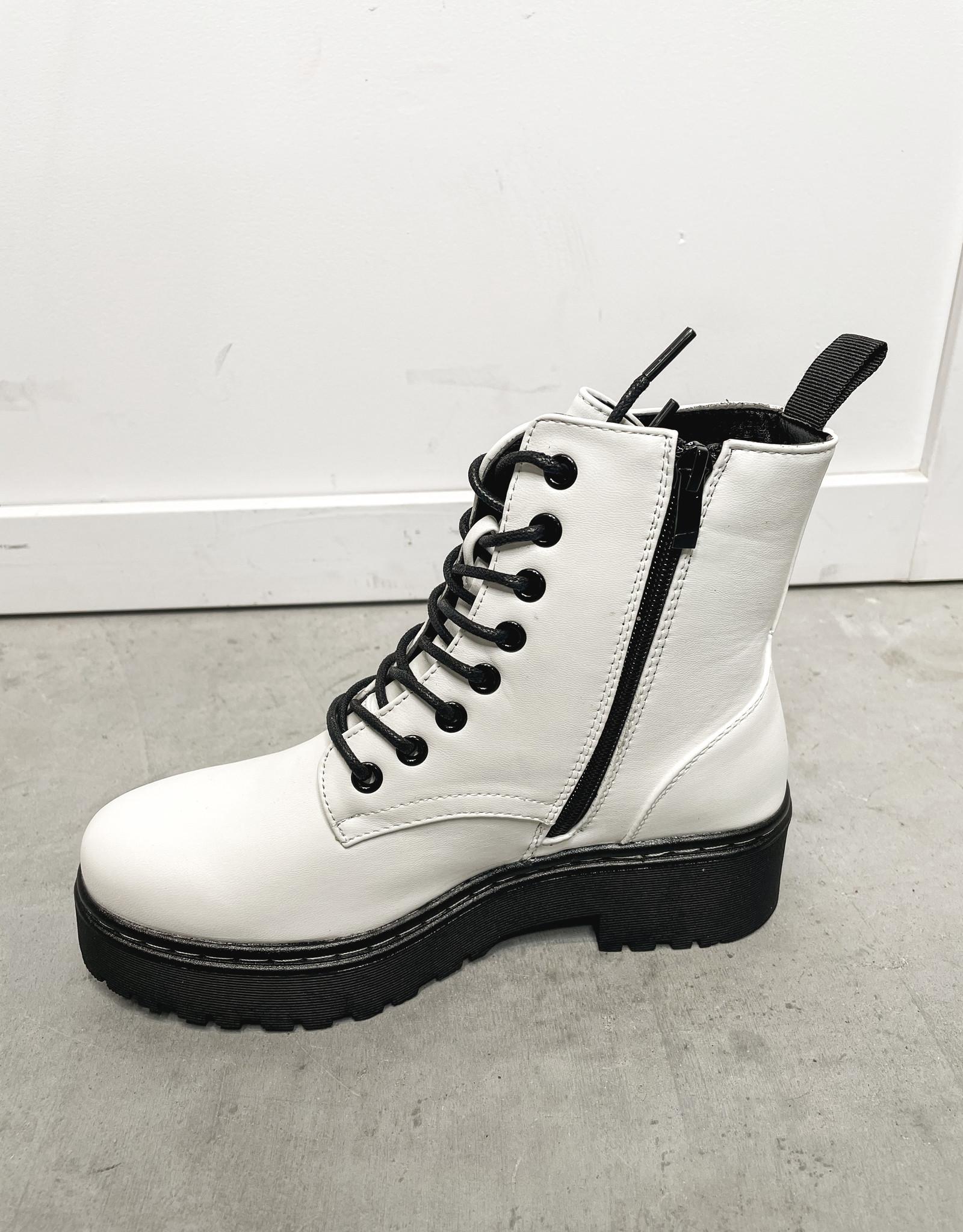 HUSH Lace up platform boot
