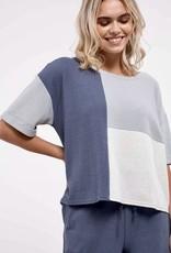HUSH Short sleeve, colour block top