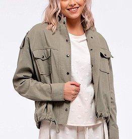 HUSH L/S lightweight jacket w/ pockets