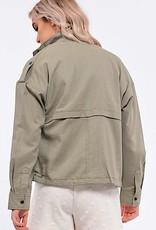 HUSH L/S lightweight spring jacket w/ pockets