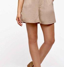 HUSH High waist front pleat, walking shorts w/ belt