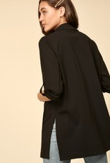 HUSH 3/4 Sleeve open blazer w/ side slits