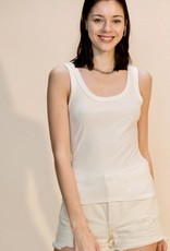 HUSH Fitted scoop neck tank