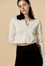 HUSH Round neck l/s sweater w/ buttons