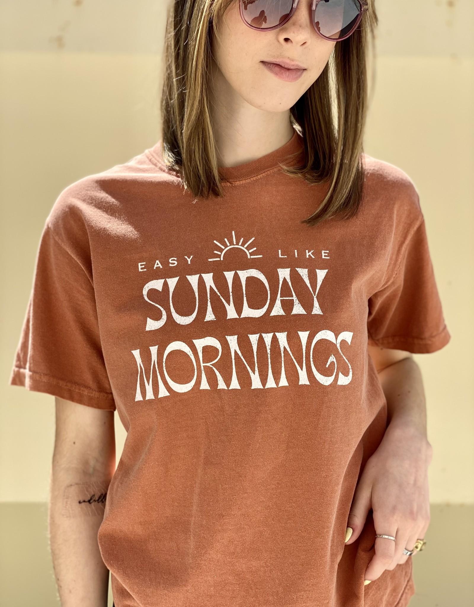 HUSH Easy like Sunday morning graphic tee