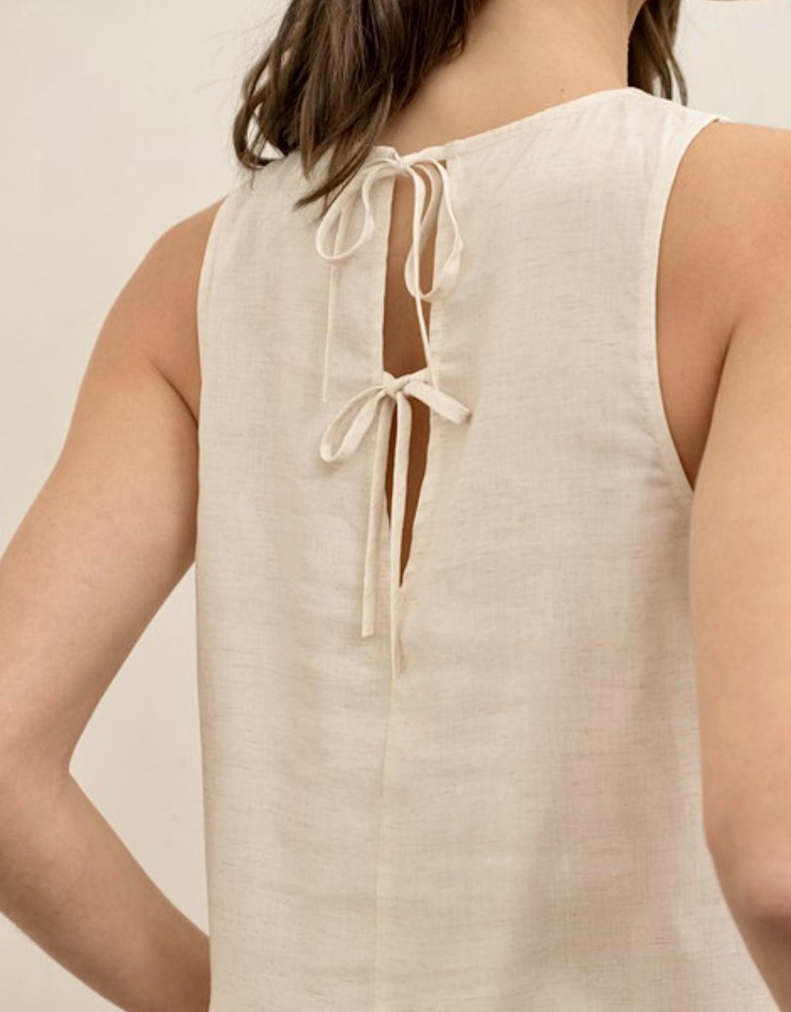 HUSH Woven sleeveless peplum blouse