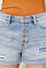 HUSH High rise denim shorts w/ cuff