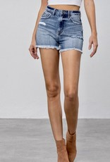 HUSH High rise premium denim mom shorts