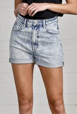 HUSH High rise mom fit denim shorts