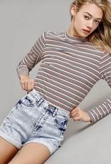 HUSH Distressed denim shorts