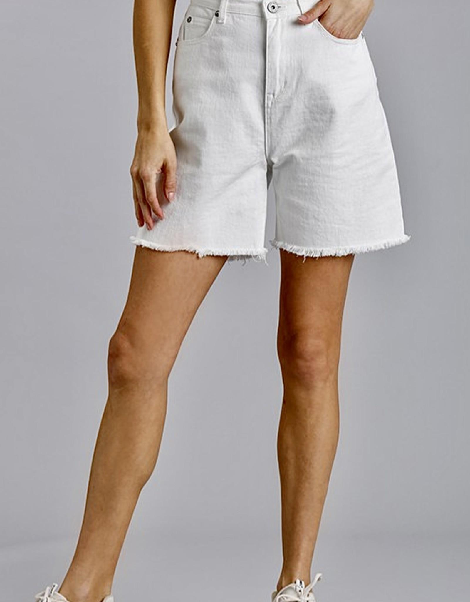 HUSH High rise boyfriend fit denim shorts
