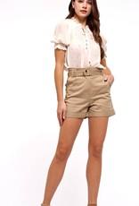 HUSH Chiffon dot print puff sleeve blouse