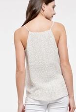 HUSH Speckled print front split cami