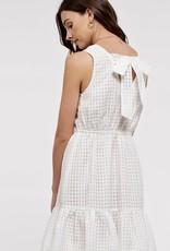 HUSH Peplum sleeveless dress w/ back bow