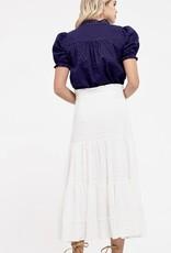 HUSH Mini dot print w/ lace blouse