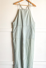 HUSH Chambray overall jumpsuit