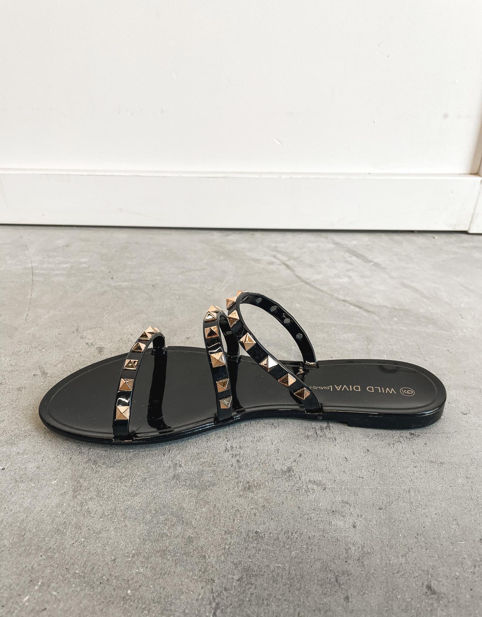 HUSH Studded jelly flat sandals