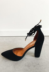 HUSH Close toe, block heel wrap around the ankle heel