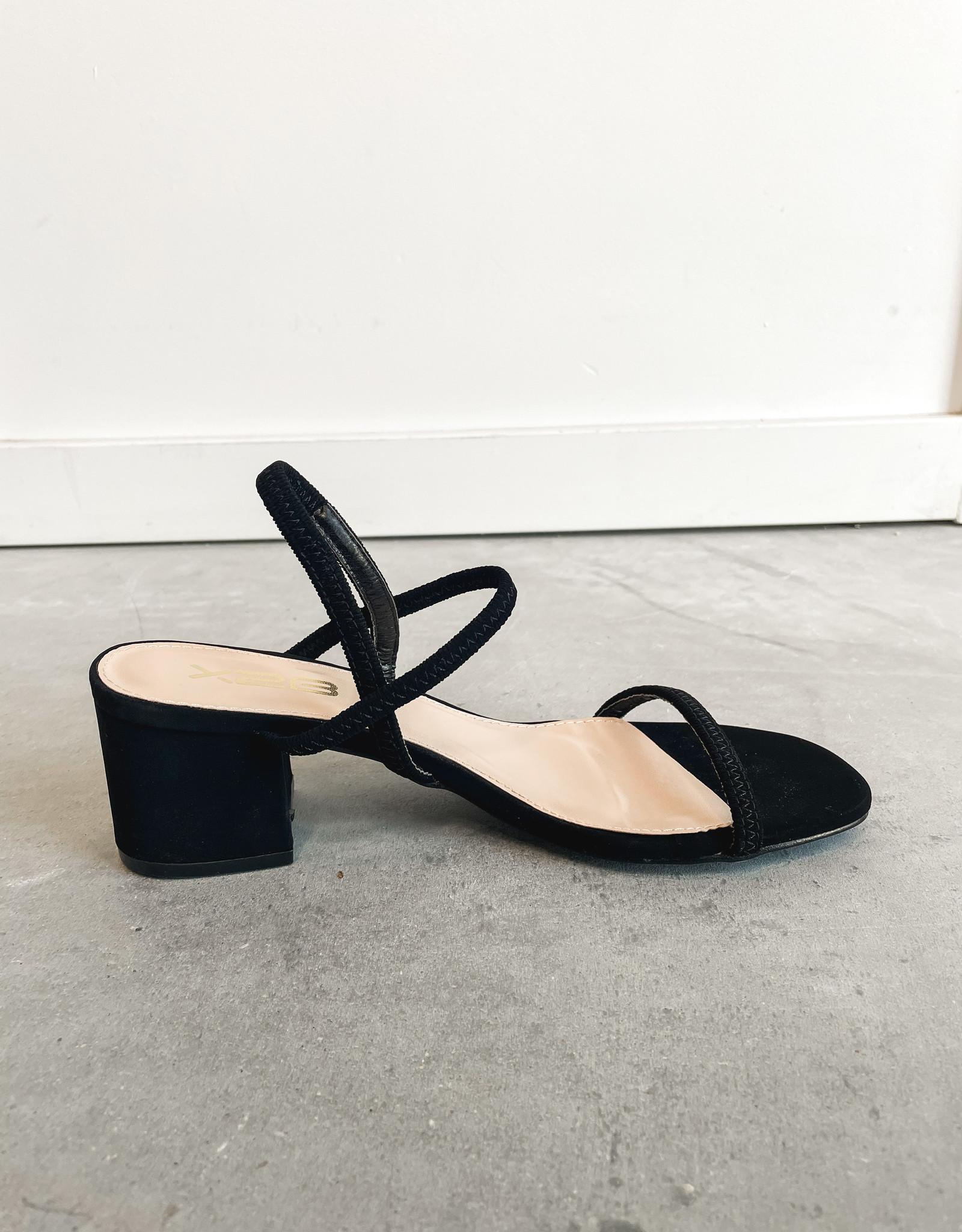 HUSH Block low heel open toe heel
