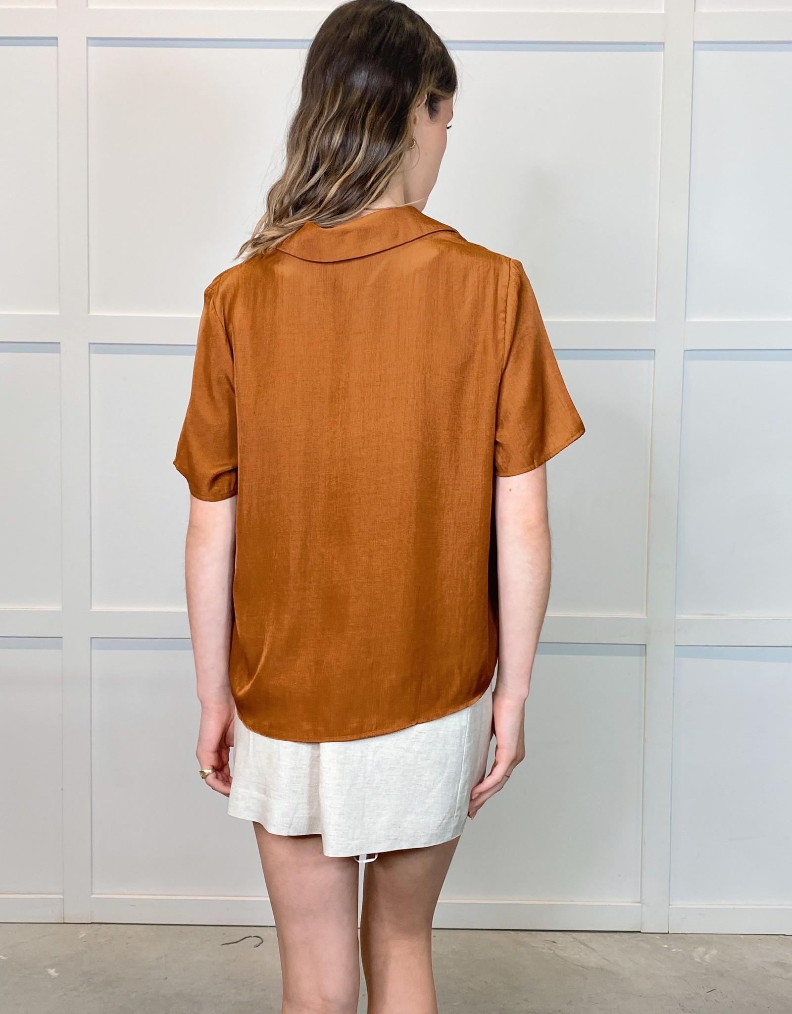 HUSH IMOGEN satin blouse
