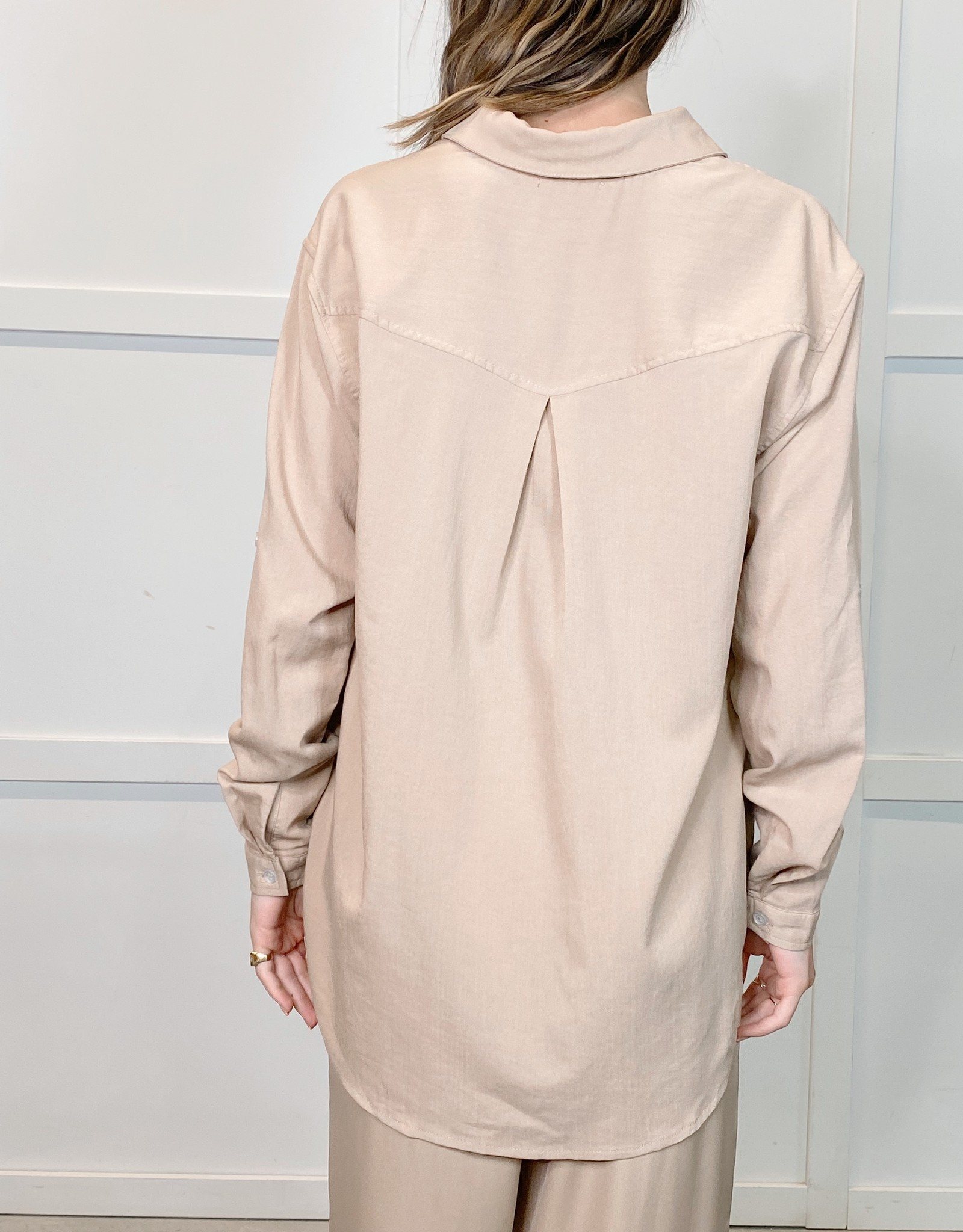 HUSH IDRA oversized blouse