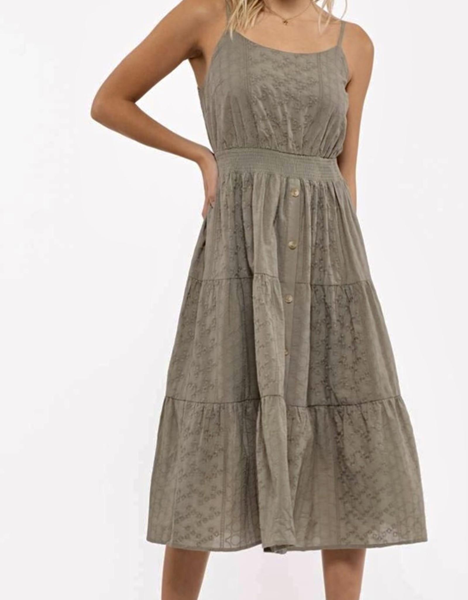 HUSH LOVE midi dress