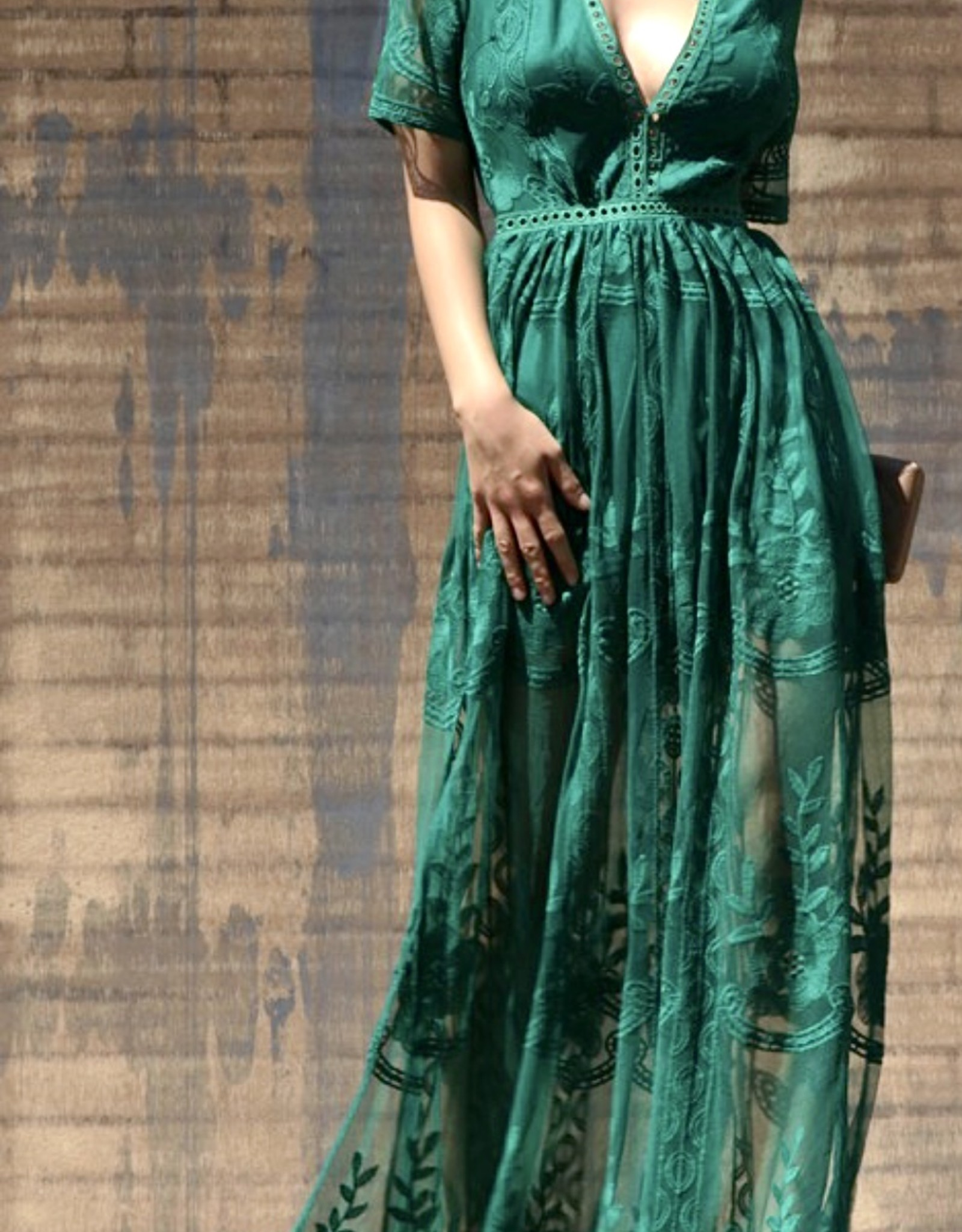 HUSH TARYN lace maxi dress