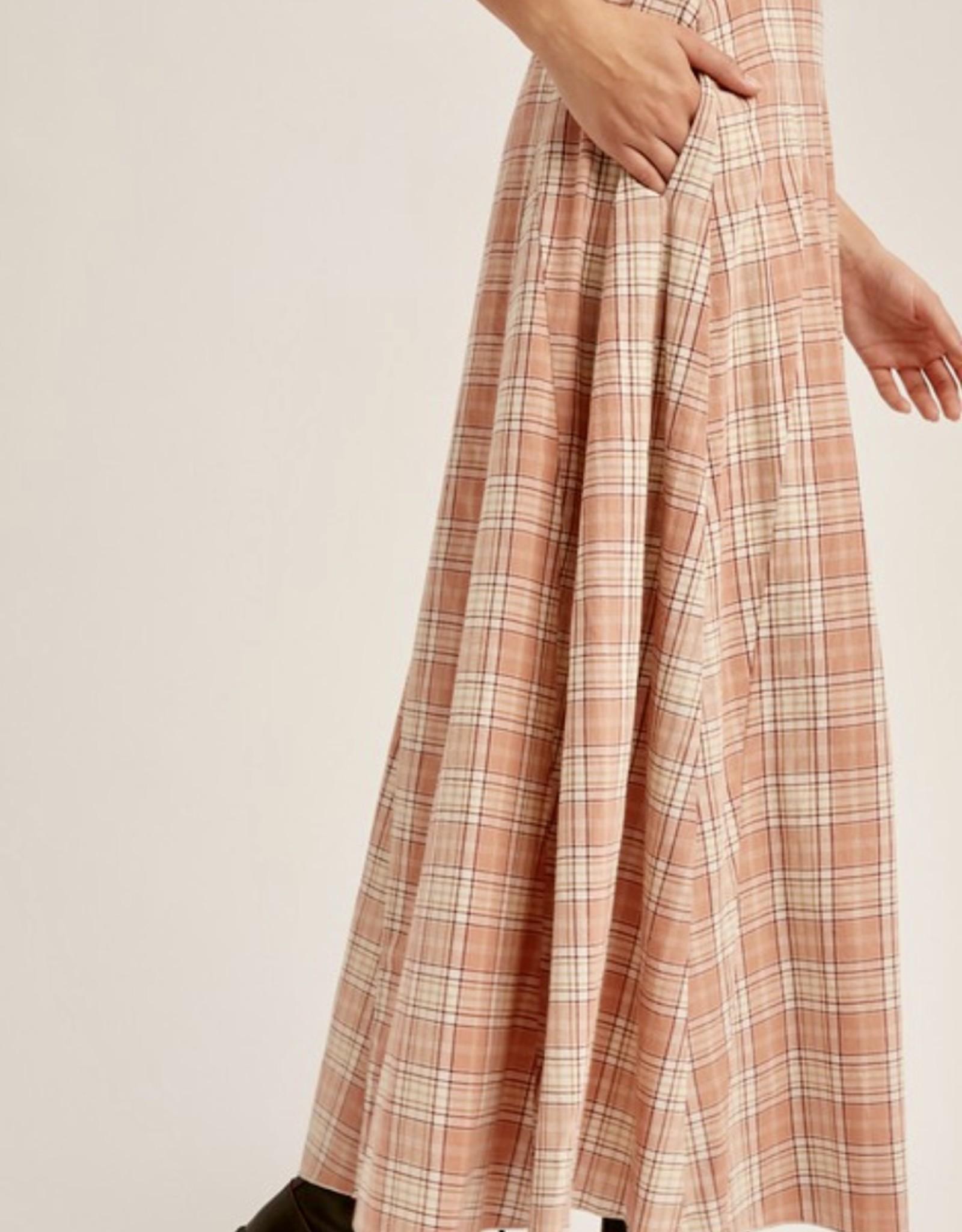 HUSH AUBREY plaid maxi skirt