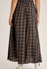 HUSH ADA plaid maxi skirt