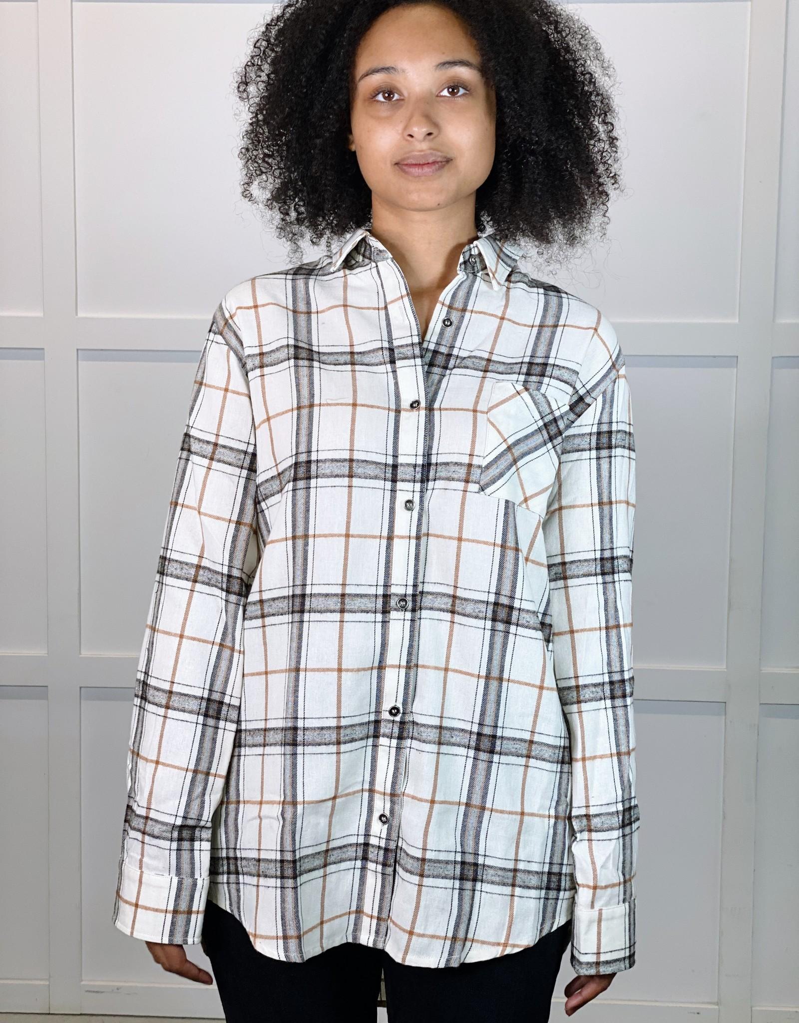 HUSH ALESSIA plaid shirt