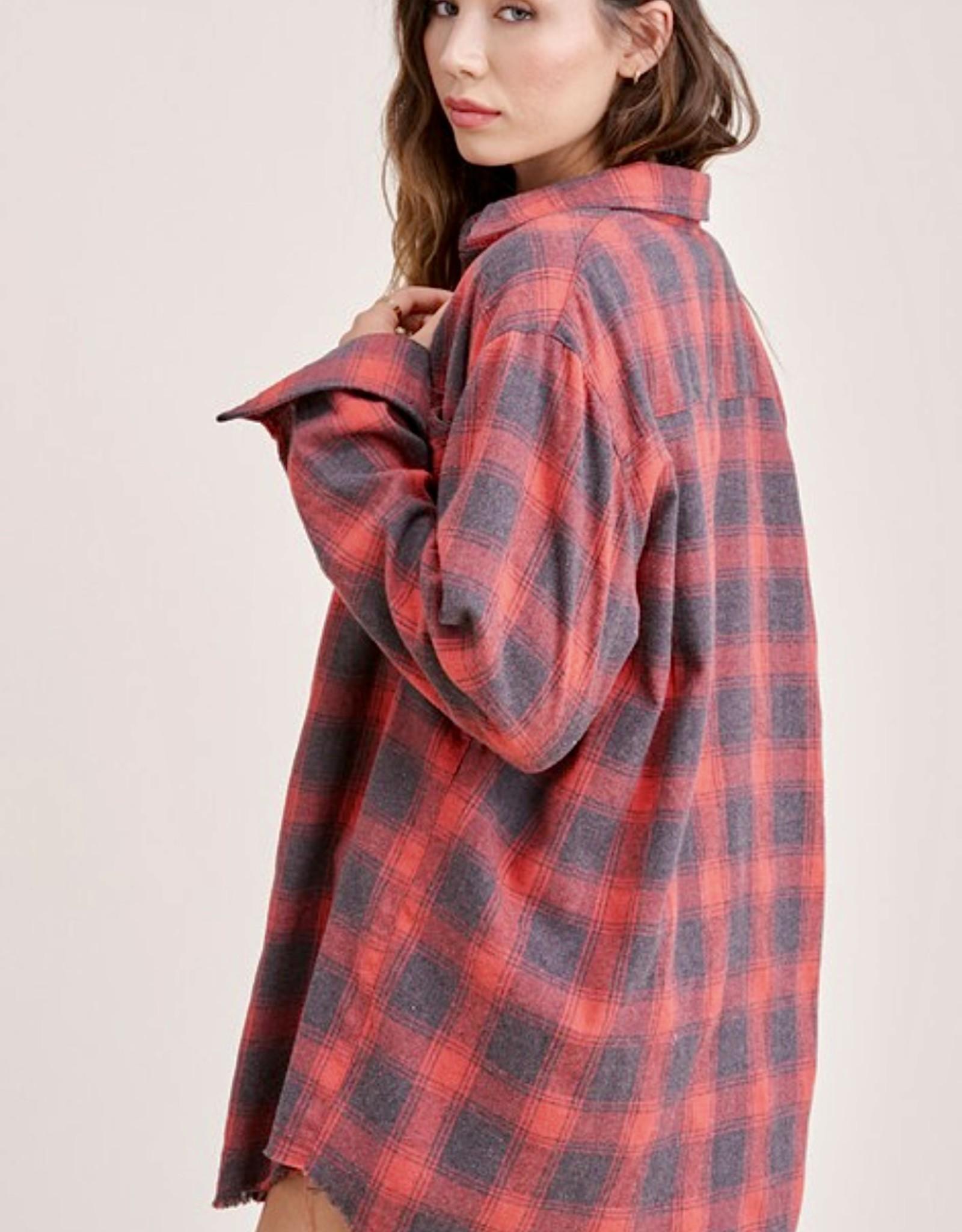 HUSH BRITNEY oversized plaid shirt