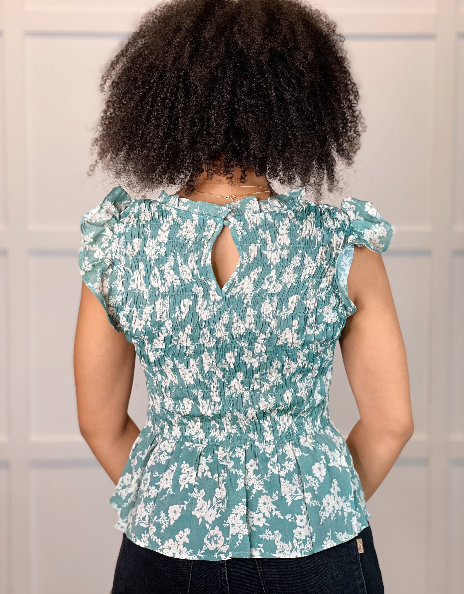 HUSH BELLAROSE smocked blouse