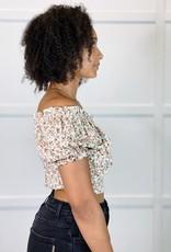 HUSH BRINLEY cropped blouse