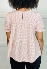 HUSH ASIA check blouse