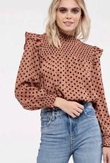 HUSH BRISTOL dotted blouse