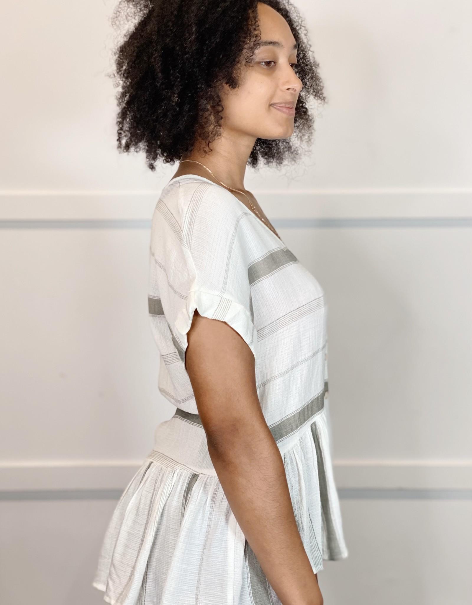 HUSH BRANDI striped blouse