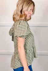 HUSH CADDIE gingham blouse