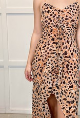 HUSH CALLIE spotted hi lo dress