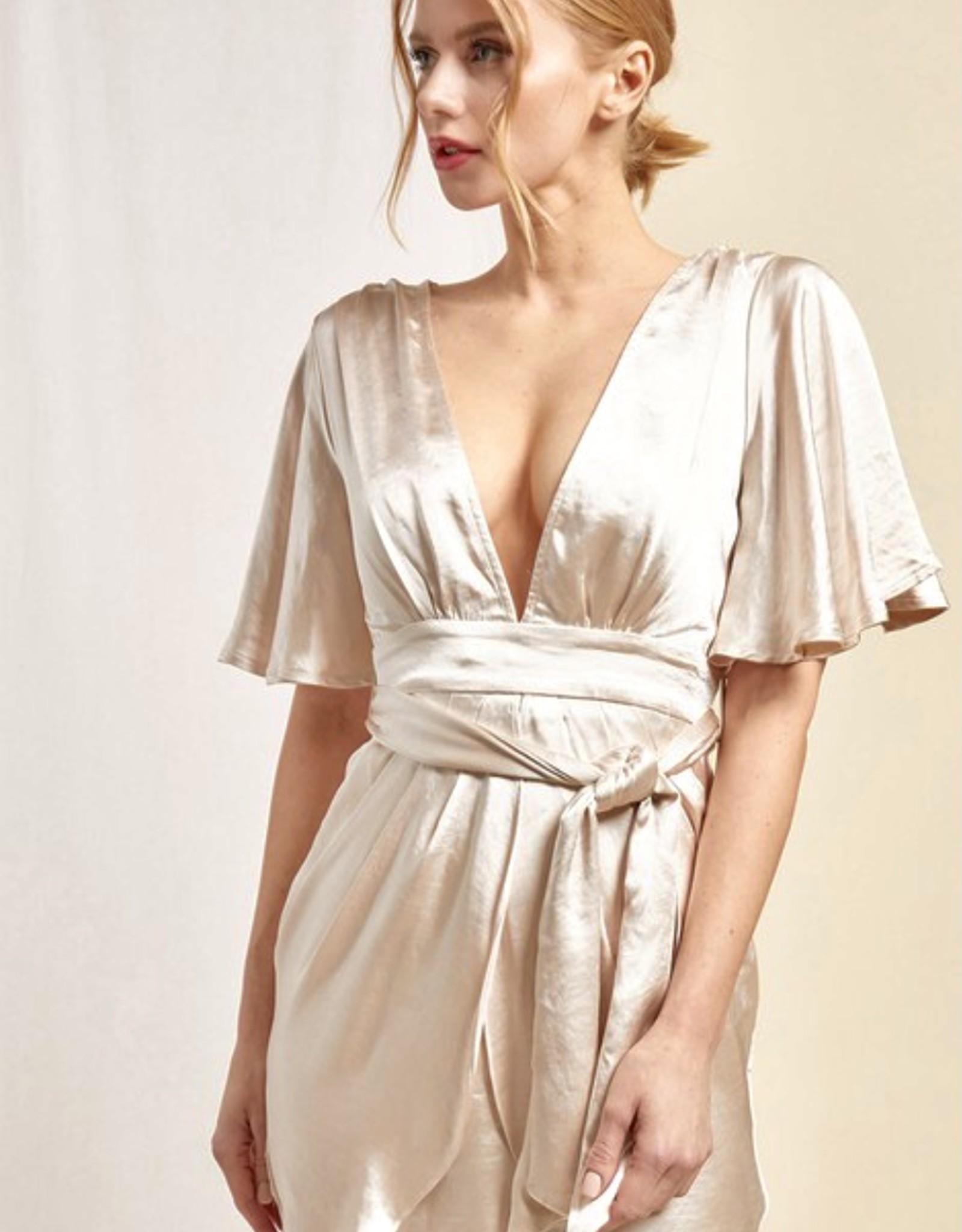 HUSH CAPELLA satin dress
