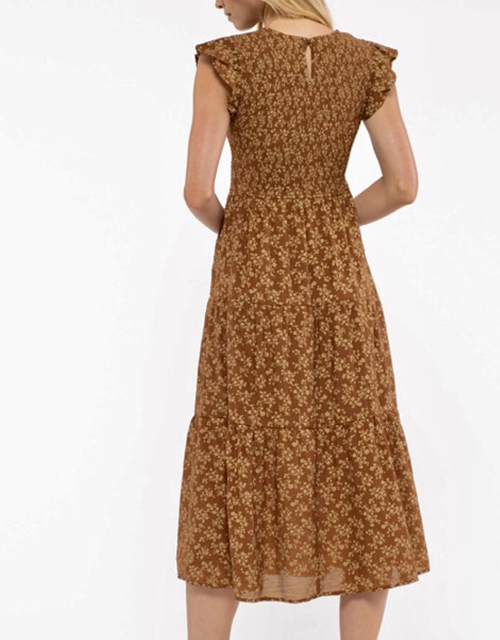 HUSH CARIN midi dress
