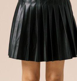 HUSH CAMERON vegan leather skirt