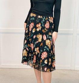 HUSH COLLEEN midi floral skirt