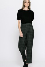 HUSH CLARISSA plaid trousers