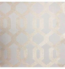 Viva Lounge Wallpaper - Beige/Gold
