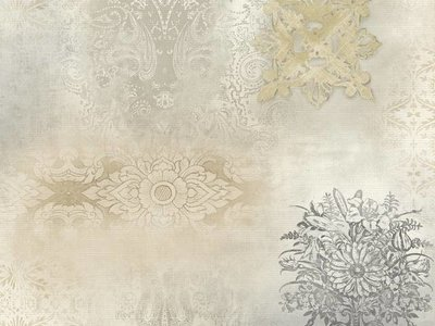 Patina Vie Prisha Patchwork Wallpaper - Neutral