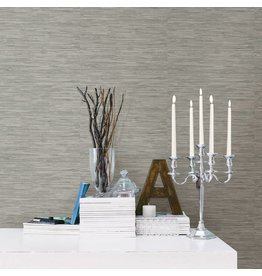 Tibetan Grasscloth Grey Natural Peel & Stick Wallpaper