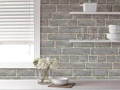 Grey Brick Peel & Stick