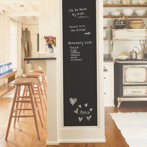 Black Vintage Chalkboard Peel & Stick Wallpaper
