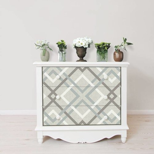 Bespoke Grey Plaid Peel & Stick Wallpaper